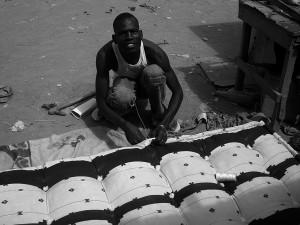 Matelassier à Ouagadougou