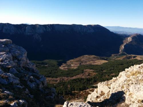 Gorges du Trévans vues du Mont Chiran